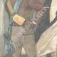 DÉTAILS 02 | Guerre italo-éthiopienne - Arrestation d'un prêtre Abyssin par nos avant-postes - Ethiopie - 1896