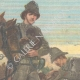 DETAILS 01   Italo-Ethiopian War'end - Italian soldiers with hungry children - Ethiopia - 1896