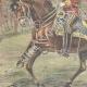DETAILS 02   Alexander I of Serbia and Umberto I of Italy on via Nomentana - Rome - 1896