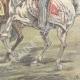 DETAILS 06   Alexander I of Serbia and Umberto I of Italy on via Nomentana - Rome - 1896