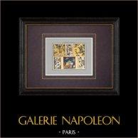 Céramiques orientales - Carrelage - Faïence - Perse - XVIIIème Siècle | Impression originale. Anonyme. Coloriée au pochoir. 1920