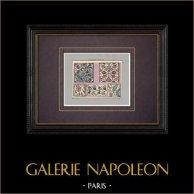 Céramiques orientales - Panneaux décoratifs - Faïence - Asie Mineure - XVIème Siècle | Impression originale. Anonyme. Coloriée au pochoir. 1920