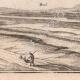 DÉTAILS 08   Vue de la ville de Jametz au XVIIème siècle - Meuse (France)