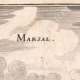 DÉTAILS 03   Vue de la ville de Marsal au XVIIème siècle - Moselle  (France)
