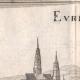 DÉTAILS 03 | Vue de la ville de Évreux au XVIIème siècle - Eure (France)