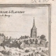 DETAILS 03 | View of the city of Flavigny in the 17th century - Church - Côte-d'Or (France)