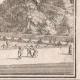 DÉTAILS 06   Vue de la ville de Paris au XVIIème siècle - Hotel de Fontaine - Jardin - Statue (France)