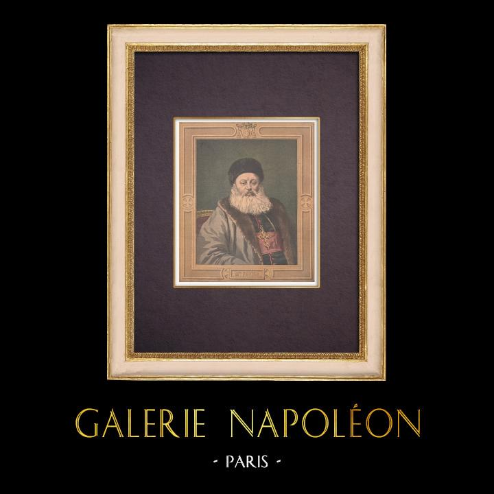 Gravures Anciennes & Dessins | Portrait de Mgr Alphonse Favier (1837-1905) | Gravure sur bois | 1901