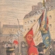 DETAILS 01   The flag of the Ecole Polytechnique - Paris - 1901