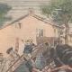 DETAILS 01 | A man and a mule fall from the Airoles bridge near Nîmes - France - 1901