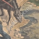 DETAILS 04 | A man and a mule fall from the Airoles bridge near Nîmes - France - 1901