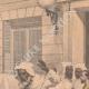 DÉTAILS 03 | Le chef de l'Ambassade du Maroc salue le drapeau français - Toulon - 1901