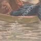 DÉTAILS 05 | Une fillette sauve son amie de la noyade - Port-à-l'Anglais - Ile de France - 1901