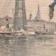 DETAILS 02 | A man dives from the Rouen transporter bridge - France - 1901