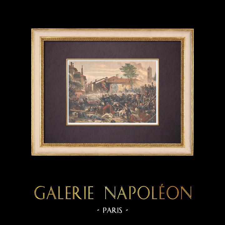 Gravures Anciennes & Dessins   Adolphe Yvon - 1863 - Peinture française - La Bataille de Magenta - Musée de Compiègne   Gravure sur bois   1901