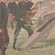 DÉTAILS 02   Grandes manœuvres de l'Est - Nicolas II admire le nouveau canon français - Reims - 1901