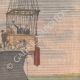 DETAILS 04 | The balloon Méditerranée, escorted by the cruiser Du Chayla, tries to cross the sea - 1901