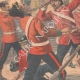 DETAILS 02 | Fight between two English regiments ready to leave to the Transval - Aldershot - 1901
