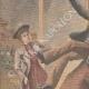 DETAILS 02 | A thief jumps through the window of the police station - Quartier du Mail - Paris - 1901