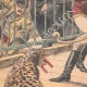 DETAILS 02 | La Goulue and her husband attacked by a cougar in a menagerie - Paris - 1904