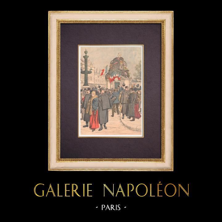 Antique Prints & Drawings | Statue of Strasbourg - Place de la Concorde - Paris - 1904 | Wood engraving | 1904