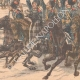 DETAILS 04   Nicolas II acclaimed by the Cossacks before their departure in the Far East - 1904