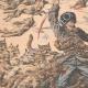 DÉTAILS 02 | Des Cosaques attaqués par une meute de loups - Mandchourie - Chine - 1904
