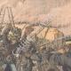 DÉTAILS 02   Les Japonais attaquent un retranchement Russe - Mukden - Mandchourie - Chine - 1904