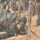 DÉTAILS 04   Les Japonais attaquent un retranchement Russe - Mukden - Mandchourie - Chine - 1904