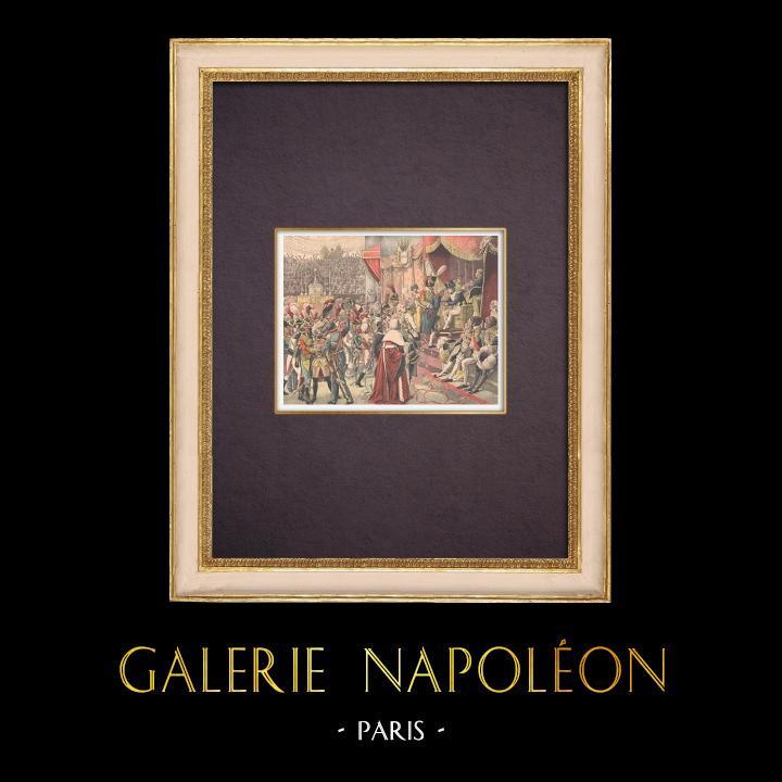 Antique Prints & Drawings | Napoleon - Legion of Honour - 1804 (Jean-Baptiste Debret) | Wood engraving | 1904