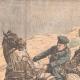 DETAILS 01   Russian artillery in the rain in Niou-chuang - Manchuria - China