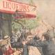 DÉTAILS 01   Voyous et agents de police sur la Place de la Bastille - Paris - 1904
