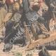 DÉTAILS 03   Voyous et agents de police sur la Place de la Bastille - Paris - 1904
