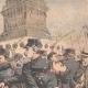 DÉTAILS 05   Voyous et agents de police sur la Place de la Bastille - Paris - 1904