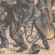 DÉTAILS 06   Voyous et agents de police sur la Place de la Bastille - Paris - 1904