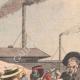 DÉTAILS 03 | Enrôlement des travailleurs chinois dans les mines d'or - Afrique  du Sud - 1904