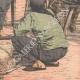 DÉTAILS 06 | Enrôlement des travailleurs chinois dans les mines d'or - Afrique  du Sud - 1904