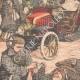 DÉTAILS 02 | Le général Kouropatkine parcourant les lignes russes en automobile  - Mandchourie - Chine - 1904