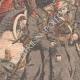 DÉTAILS 04 | Le général Kouropatkine parcourant les lignes russes en automobile  - Mandchourie - Chine - 1904