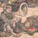 DÉTAILS 05 | Le général Kouropatkine parcourant les lignes russes en automobile  - Mandchourie - Chine - 1904