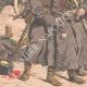 DÉTAILS 06 | Le général Kouropatkine parcourant les lignes russes en automobile  - Mandchourie - Chine - 1904