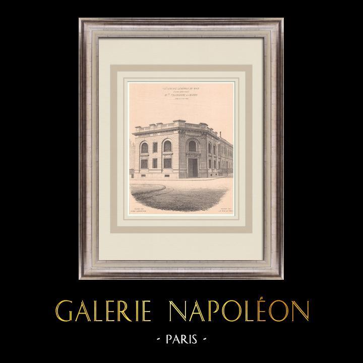 Antique Prints & Drawings   Trésorerie générale - Nice - France (Tournaire & Mars)   Print   1900