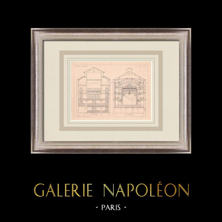 Antique Prints & Drawings | Theater - Fougères - France (J. Laloy) | Print | 1900