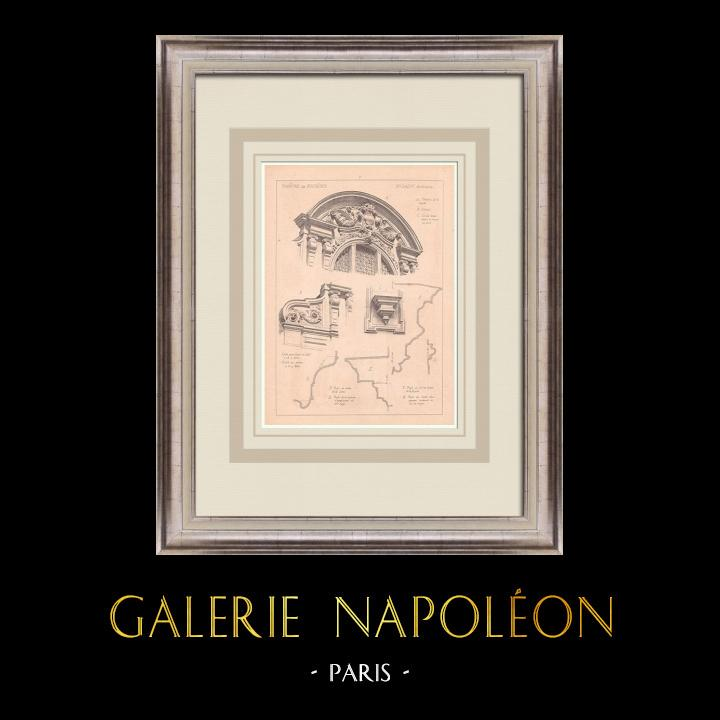 Antique Prints & Drawings | Theater - Fougères - Pediment - France (J. Laloy) | Print | 1900