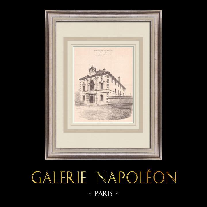 Gravures Anciennes & Dessins | Théâtre de Châteaudun - France (Charles-Emile Vaillant architecte) | Impression | 1900