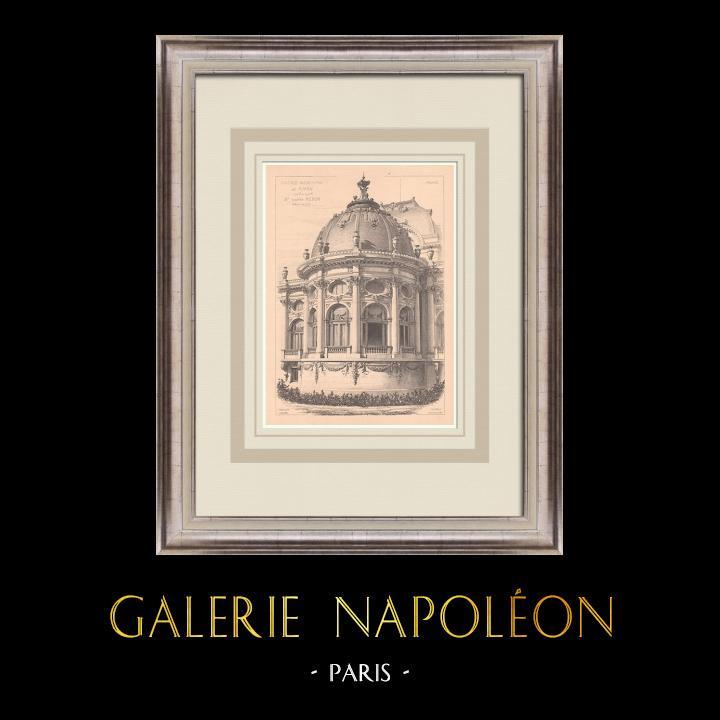 Gravures Anciennes & Dessins   Casino de Royan - France (Gaston Redon architecte)   Impression   1900
