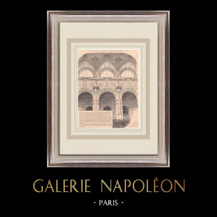 Antique Prints & Drawings   Casino - Royan - France (Gaston Redon)   Print   1900