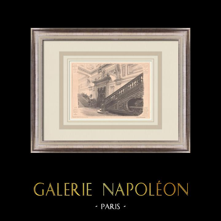 Gravures Anciennes & Dessins | Casino de Royan - Escalier - France (Gaston Redon architecte) | Impression | 1900
