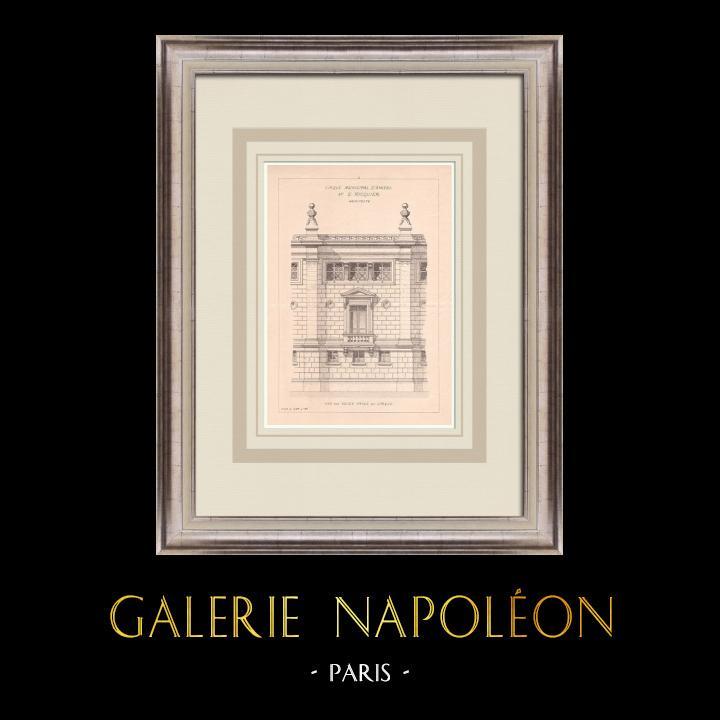 Gravures Anciennes & Dessins | Cirque d'Amiens - France (Emile Ricquier architecte) | Impression | 1900
