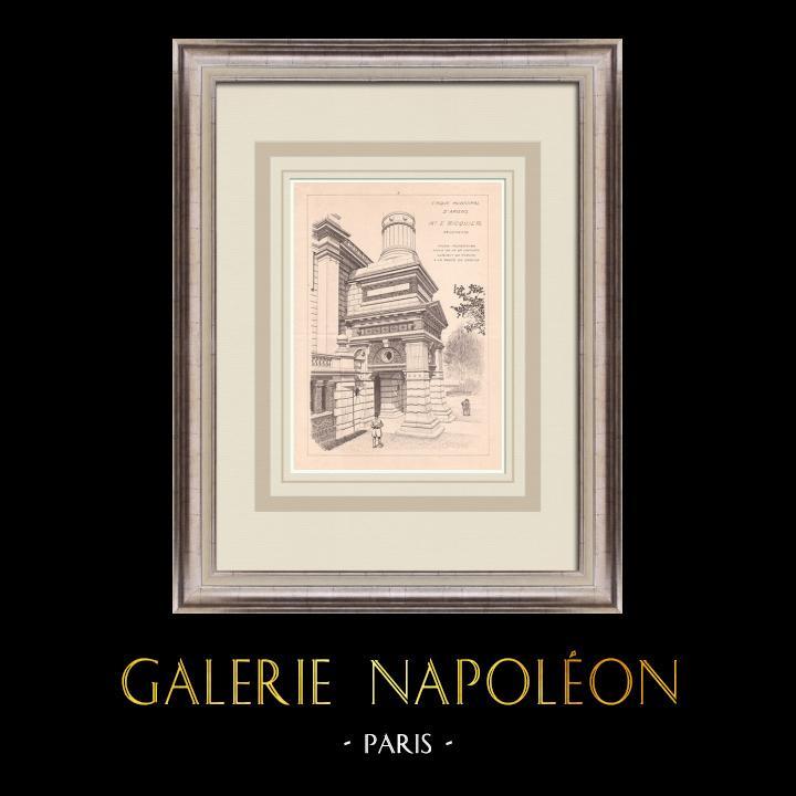 Antique Prints & Drawings | Circus - Amiens - France (Emile Ricquier) | Print | 1900